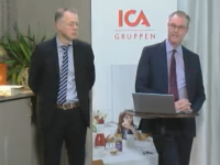 Sven Lindskog, CFO, and Per Strömberg, CEO, of Ica.