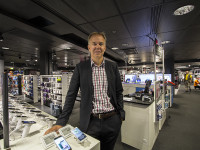Ville Honkanen, COO of Expert ASA Oy in Finland in the Stockmann department store in Helsinki.
